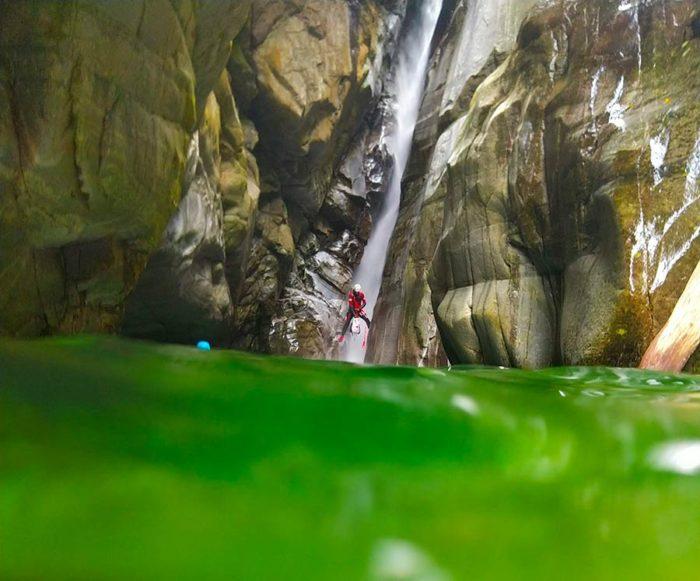 descente canyon tessin
